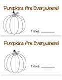 Pumpkin Unit - Pumpkin Story - Pumpkin Activities - Pumpkin Printables