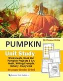 Pumpkin Unit Study and Worksheet Set for K-3rd Grade