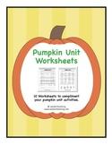 Pumpkin Unit Worksheets