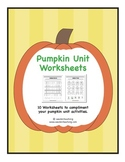 Pumpkin Unit Worksheets
