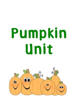 Pumpkin Unit for Preschool