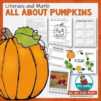Pumpkin Unit - Literacy and Math Pages - Everything Pumpkin