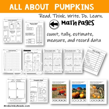 Pumpkin Unit - Literacy and Math Pages - Everything Pumpkin