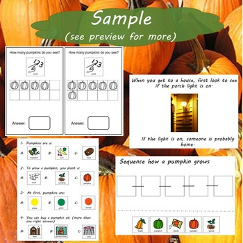 Pumpkin Unit for Special Education