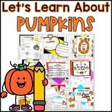 Pumpkin Unit of Study for Kindergarten and 1st Grade