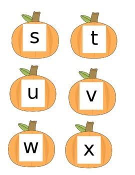 Pumpkin Upper Case/Lower Case Match