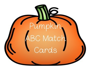 Pumpkin Upper and Lowercase match cards