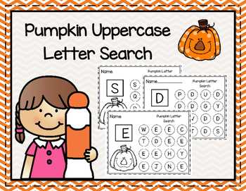Pumpkin Uppercase Letter Search
