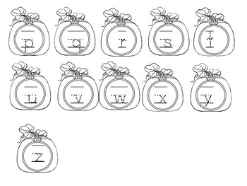 Pumpkin Uppercase and Lowercase Letter Tracing