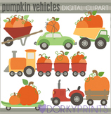 Pumpkin Vehicles Clip Art