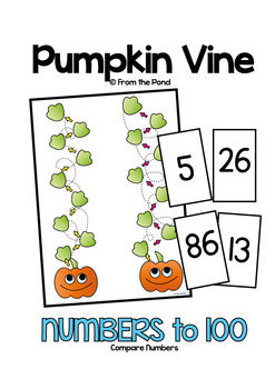 Pumpkin Vine - Fall Math Center Game for Numbers to 100
