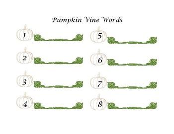 Pumpkin Vine Words