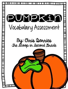 Pumpkin Vocabulary