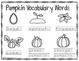 Pumpkin Vocabulary Labeling