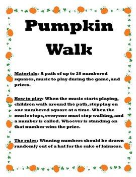 Pumpkin Walk Game