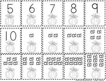 Pumpkin War (understanding numbers 1-10)