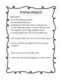 Pumpkin WebQuest