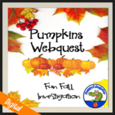 Pumpkins Webquest with Halloween Coloring Sheets Activity
