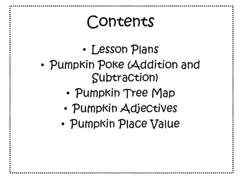 Pumpkin Week Mini Unit and Activity Set