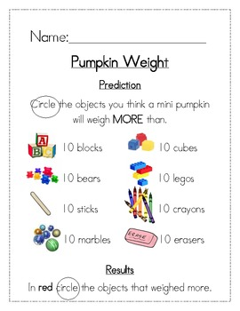 Pumpkin Weight Measurement