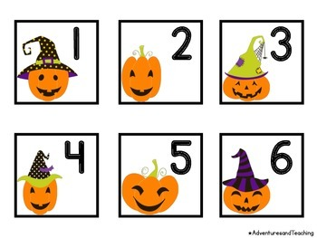 Pumpkin Witches Calendar Numbers