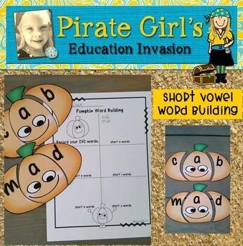 Pumpkin Word Building (CVC Words)