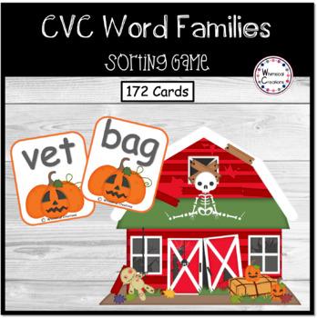 Pumpkin Word Families (CVC Words) #StartFreshBTS