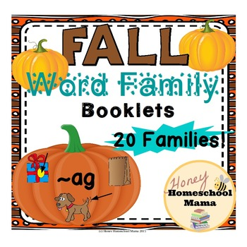 Pumpkin Word Family Booklets - 20 Word Families!