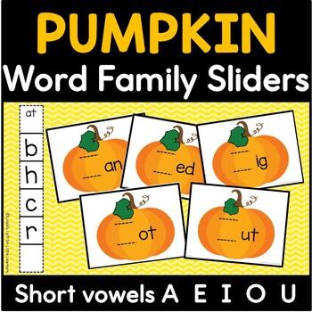 Pumpkin Word Family Sliders