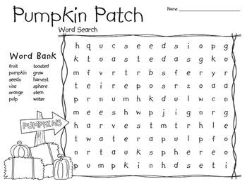 Pumpkin Word Search