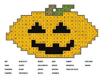 FREE! Pumpkin Word Search - Primary