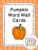 Pumpkin Word Wall Cards