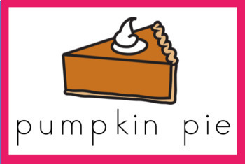 Pumpkin Vocabulary Word Wall Cards (set of 22) - Full Color Version