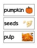 Pumpkin Word Wall Vocabulary