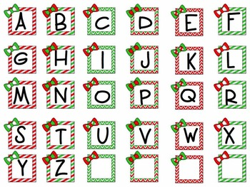 Seasonal Word Work Letters