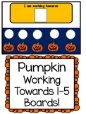 Pumpkin Working Towards 1-5 Visual Reinforcement Board