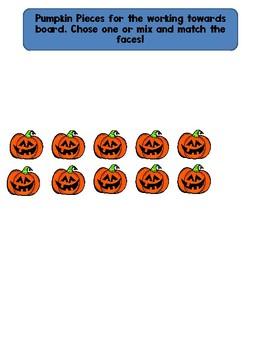 Pumpkin Working Towards 1-5 Visual Reinforcement Board