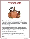 Pumpkin Worksheets and Craft Ideas