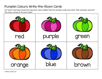 Pumpkin Write-the-Room