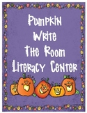 Pumpkin Write the Room Initial Sounds Literacy Center