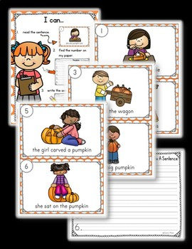 Pumpkin Write the Room - Sentence Fix Edition