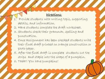 Pumpkin Writing Assessment
