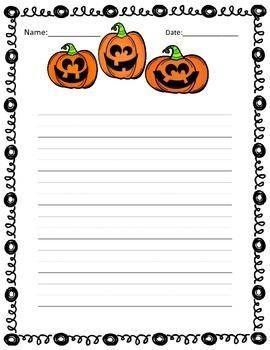 Pumpkin Writing Center Activities