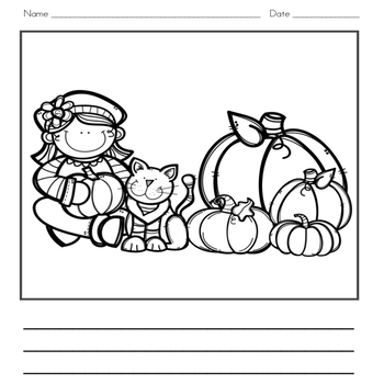Pumpkin Writing Journal and Word Wall Cards