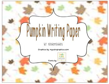 Pumpkin Writing Paper