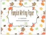 Pumpkin Writing Paper