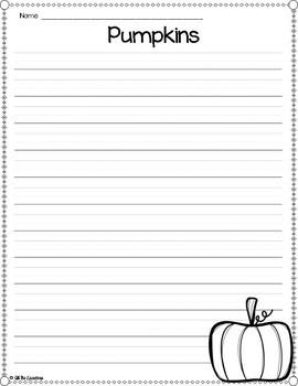 Pumpkin Writing Paper Templates