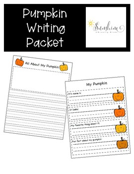 Pumpkin Writing Printables