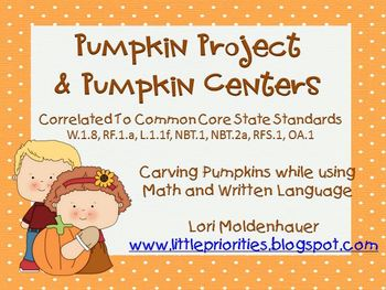 Pumpkin Writing Project and Pumpkin Centers