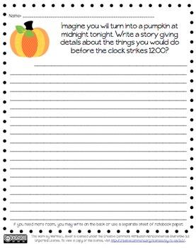 Pumpkin Writing Prompt